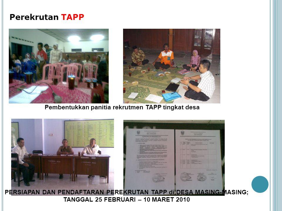 Pembentukkan panitia rekrutmen TAPP tingkat desa