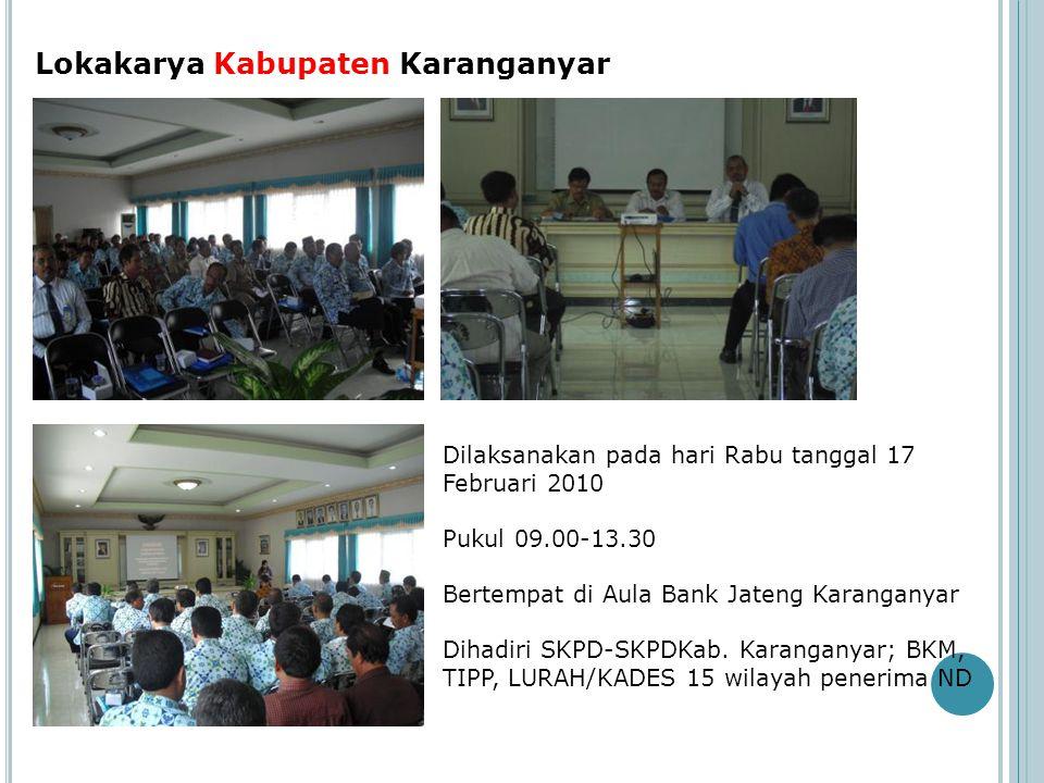 Lokakarya Kabupaten Karanganyar