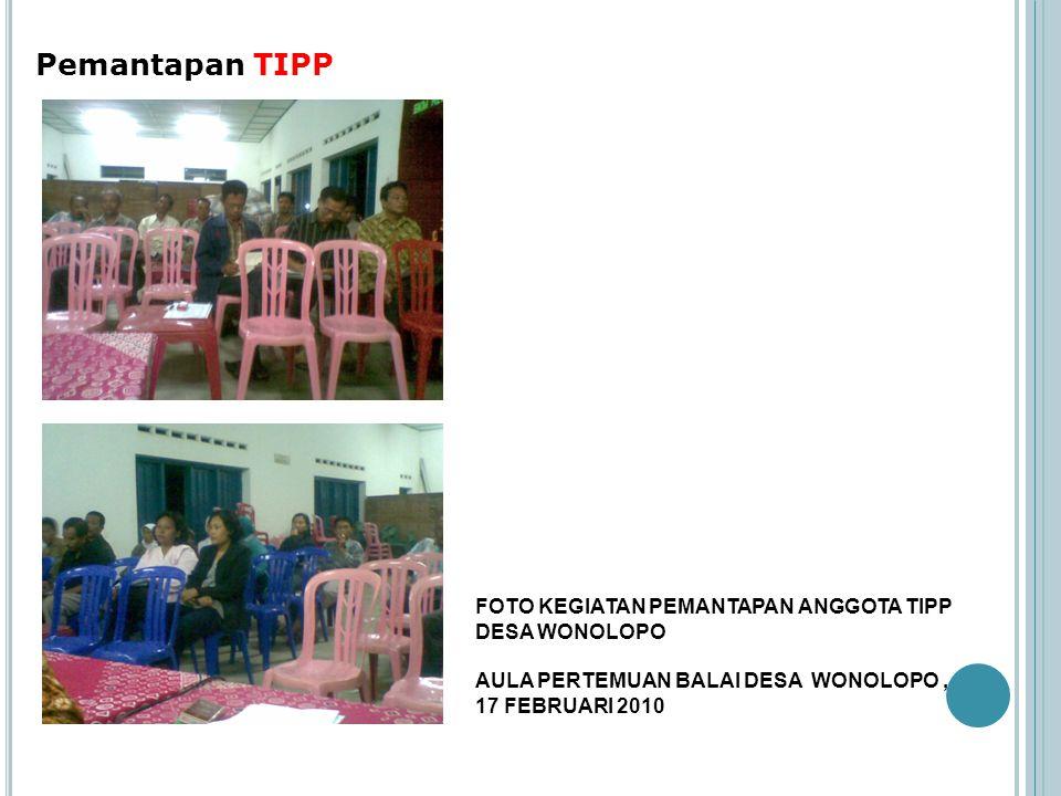 Pemantapan TIPP FOTO KEGIATAN PEMANTAPAN ANGGOTA TIPP DESA WONOLOPO