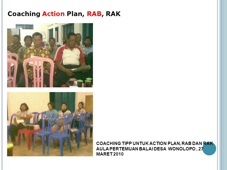 Coaching Action Plan, RAB, RAK
