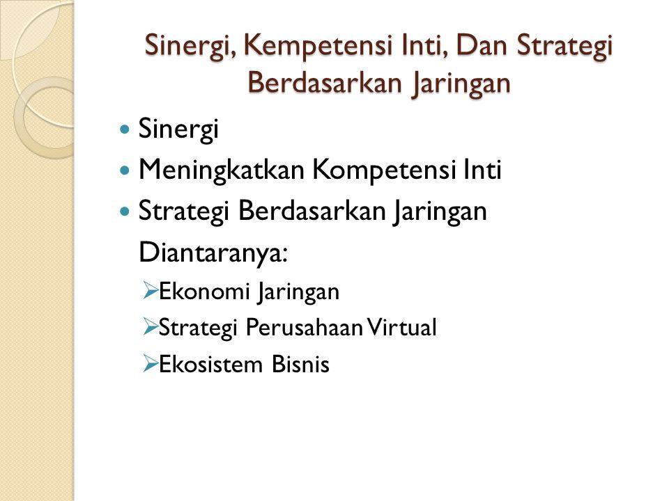 Sinergi, Kempetensi Inti, Dan Strategi Berdasarkan Jaringan