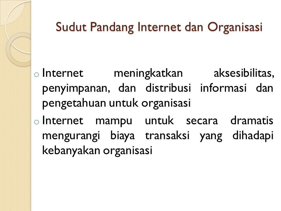 Sudut Pandang Internet dan Organisasi