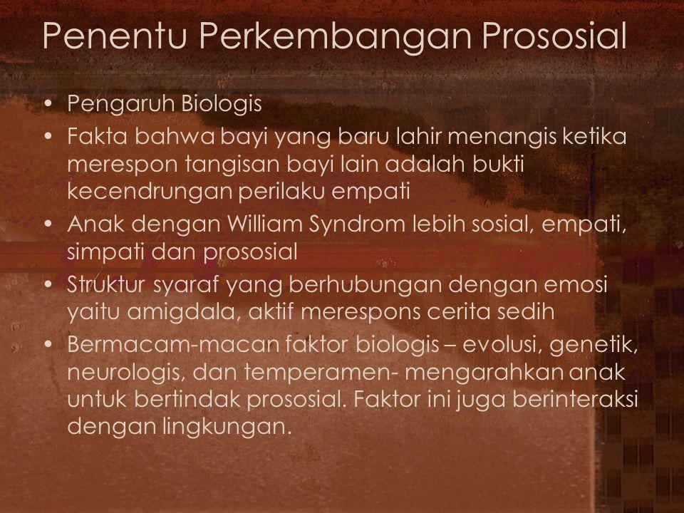 Penentu Perkembangan Prososial
