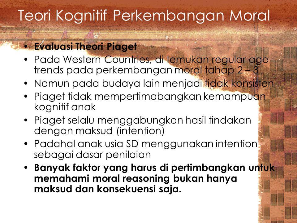 Teori Kognitif Perkembangan Moral