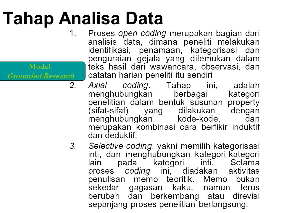 Tahap Analisa Data