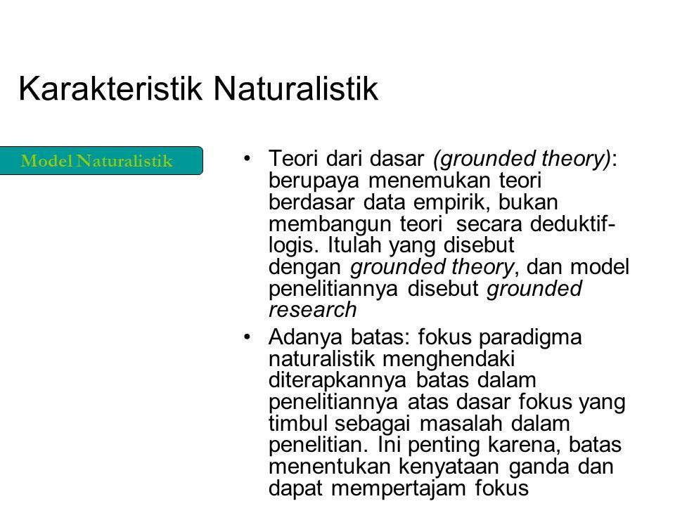 Karakteristik Naturalistik