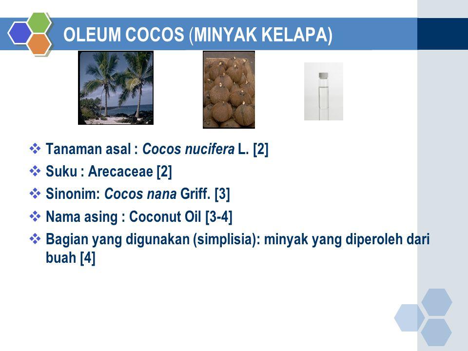 OLEUM COCOS (MINYAK KELAPA)