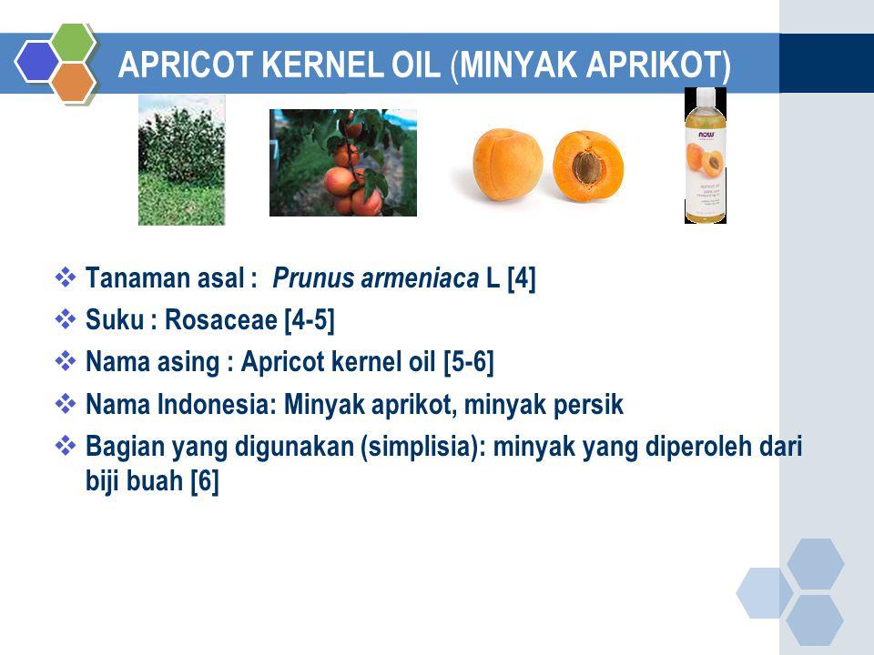 APRICOT KERNEL OIL (MINYAK APRIKOT)
