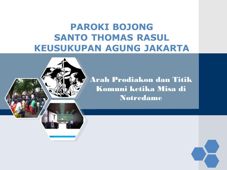 PAROKI BOJONG SANTO THOMAS RASUL KEUSUKUPAN AGUNG JAKARTA