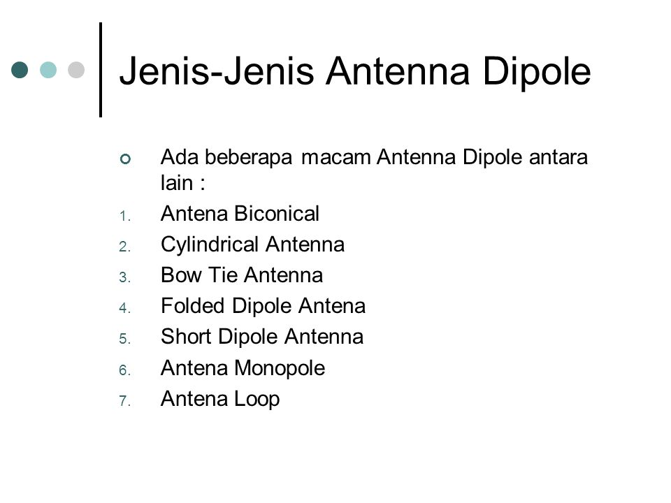 Jenis-Jenis Antenna Dipole