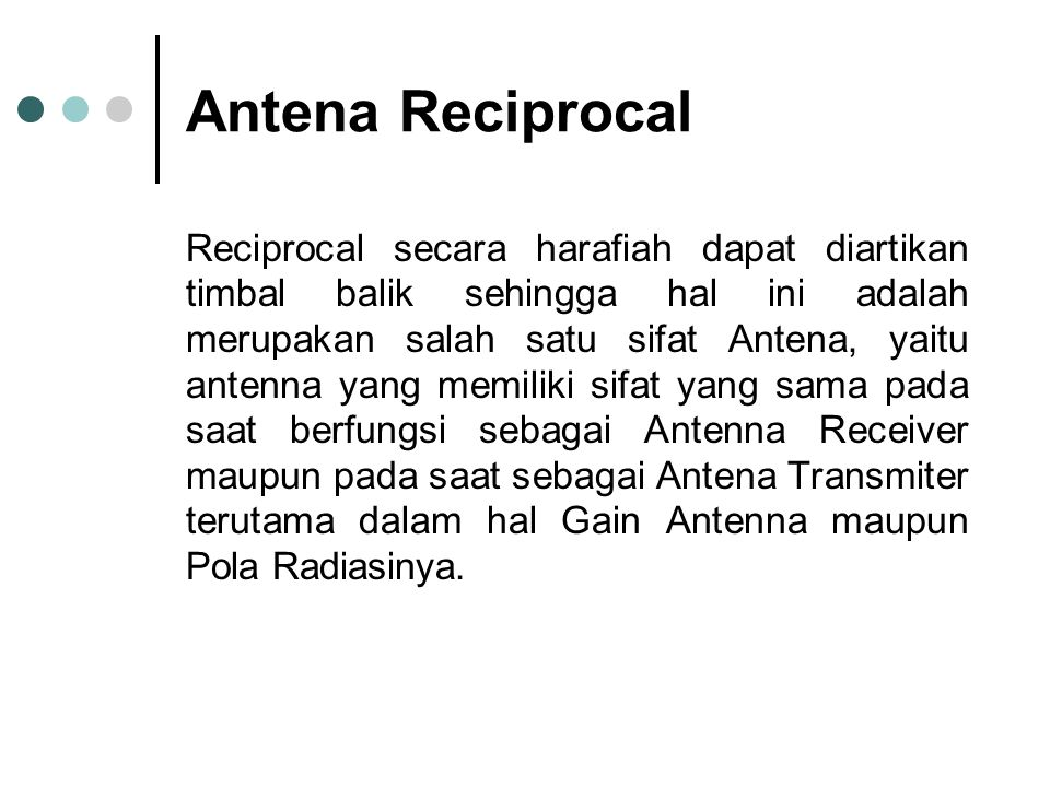 Antena Reciprocal