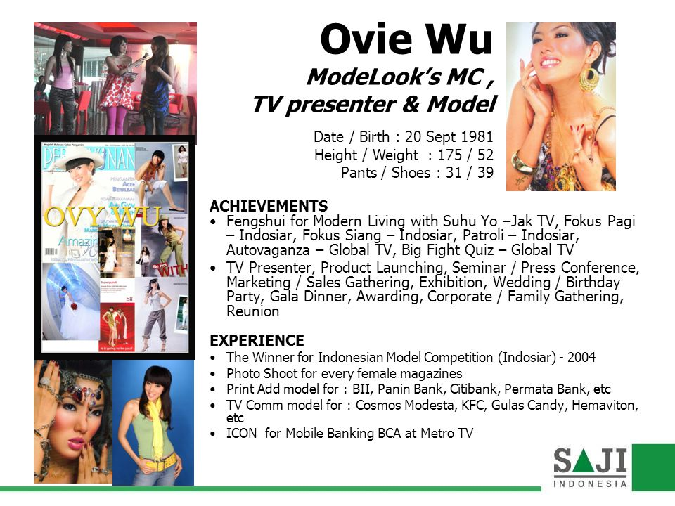 Ovie Wu ModeLook's MC , TV presenter & Model