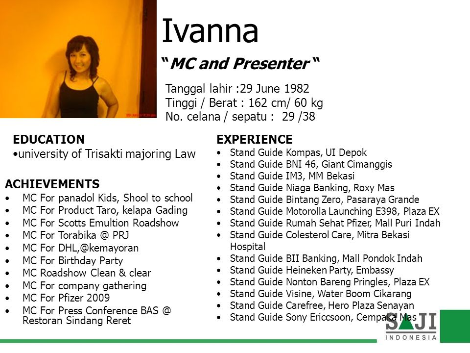 Ivanna MC and Presenter