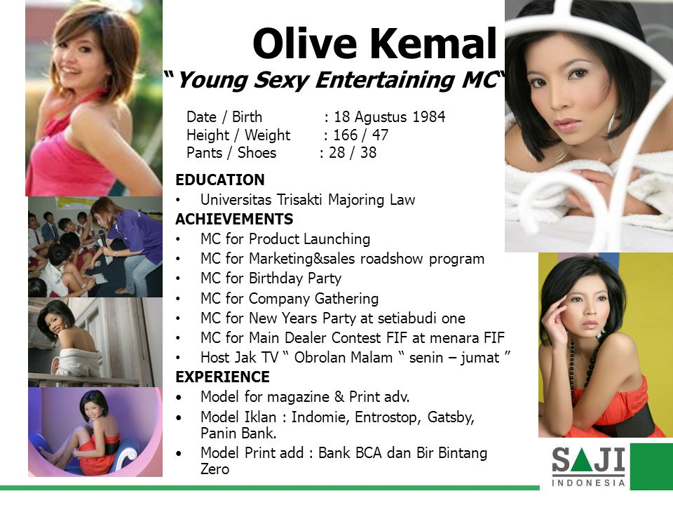 Olive Kemal Young Sexy Entertaining MC