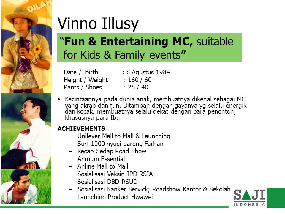 Vinno Illusy Fun & Entertaining MC, suitable