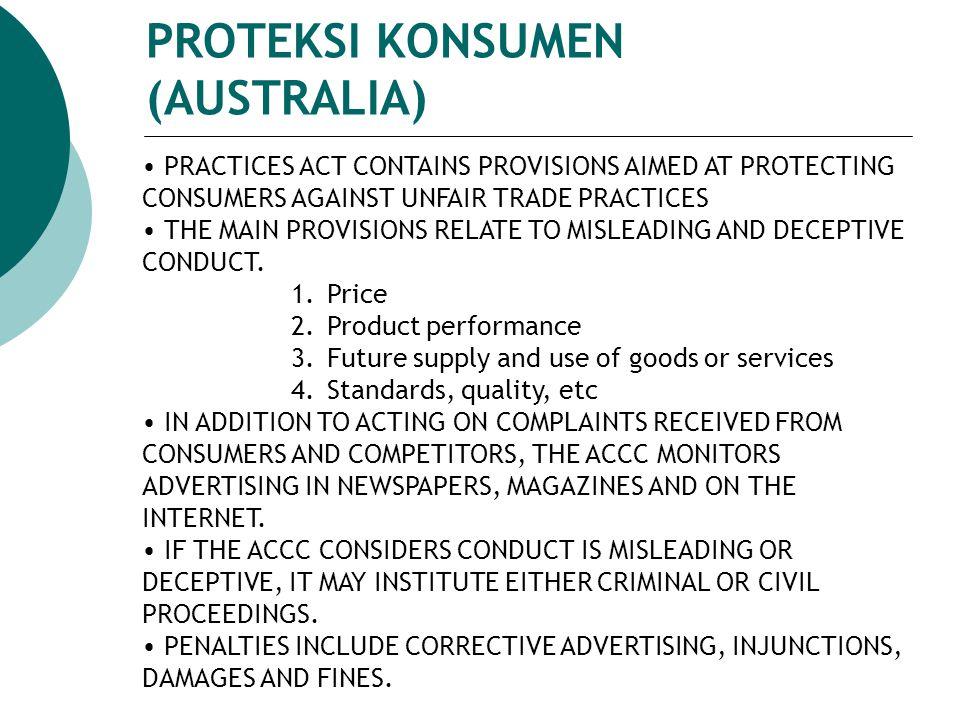 PROTEKSI KONSUMEN (AUSTRALIA)