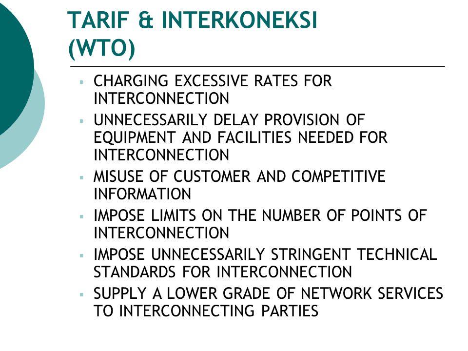 TARIF & INTERKONEKSI (WTO)