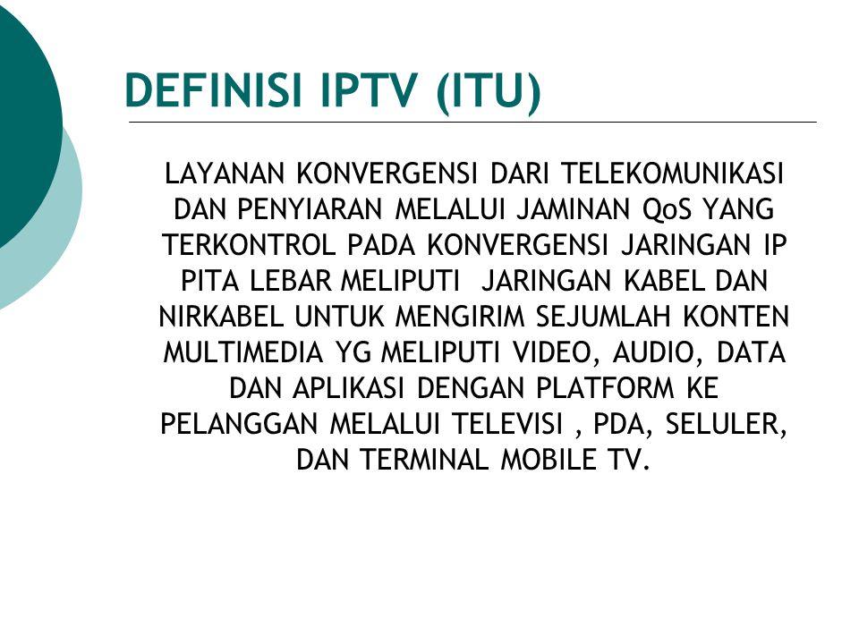 DEFINISI IPTV (ITU)