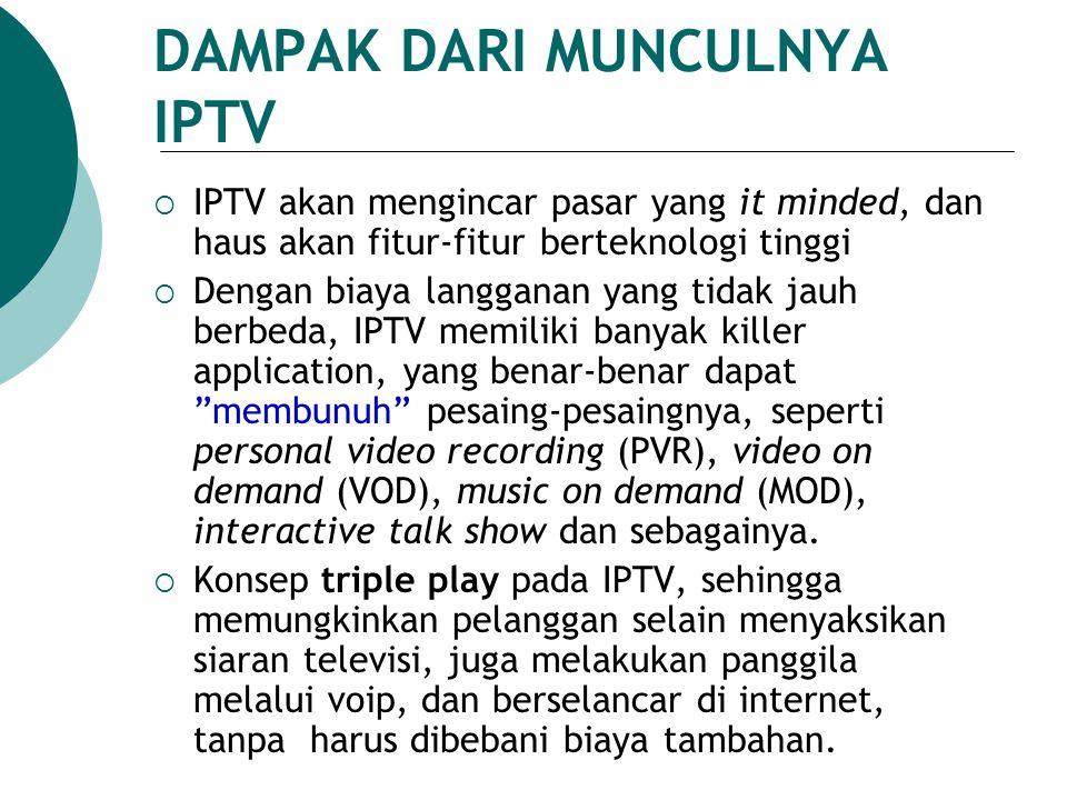 DAMPAK DARI MUNCULNYA IPTV