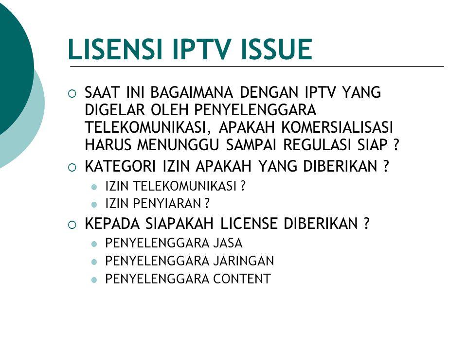 LISENSI IPTV ISSUE
