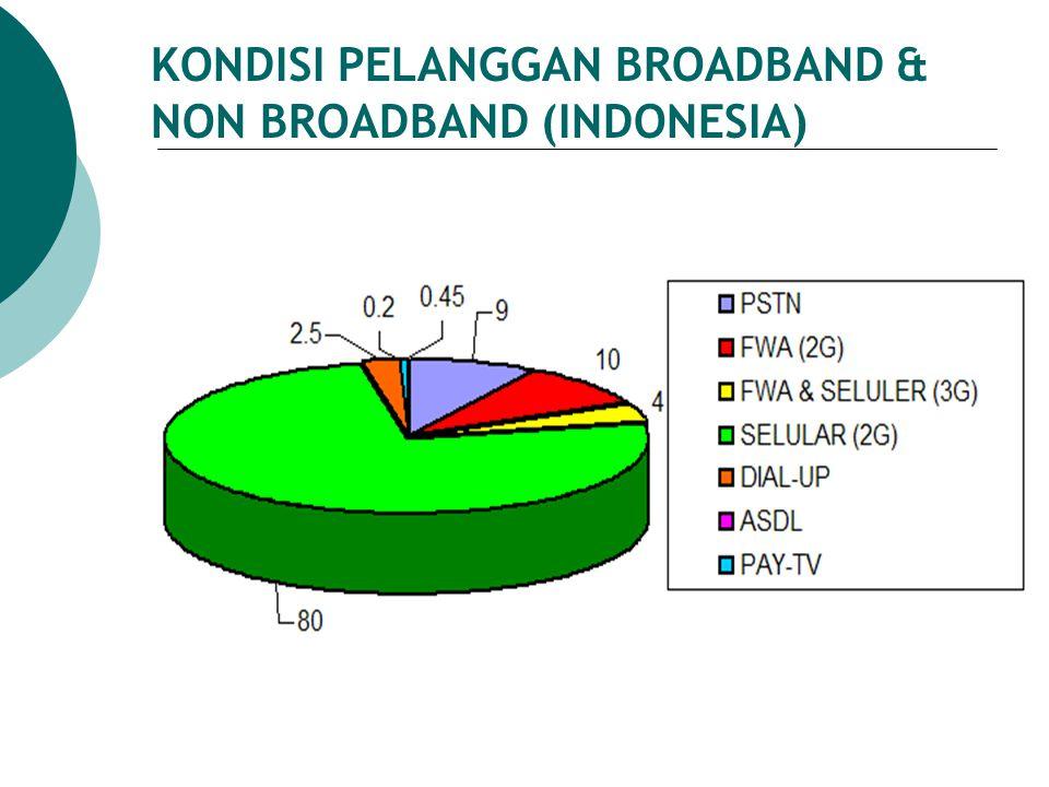 KONDISI PELANGGAN BROADBAND & NON BROADBAND (INDONESIA)