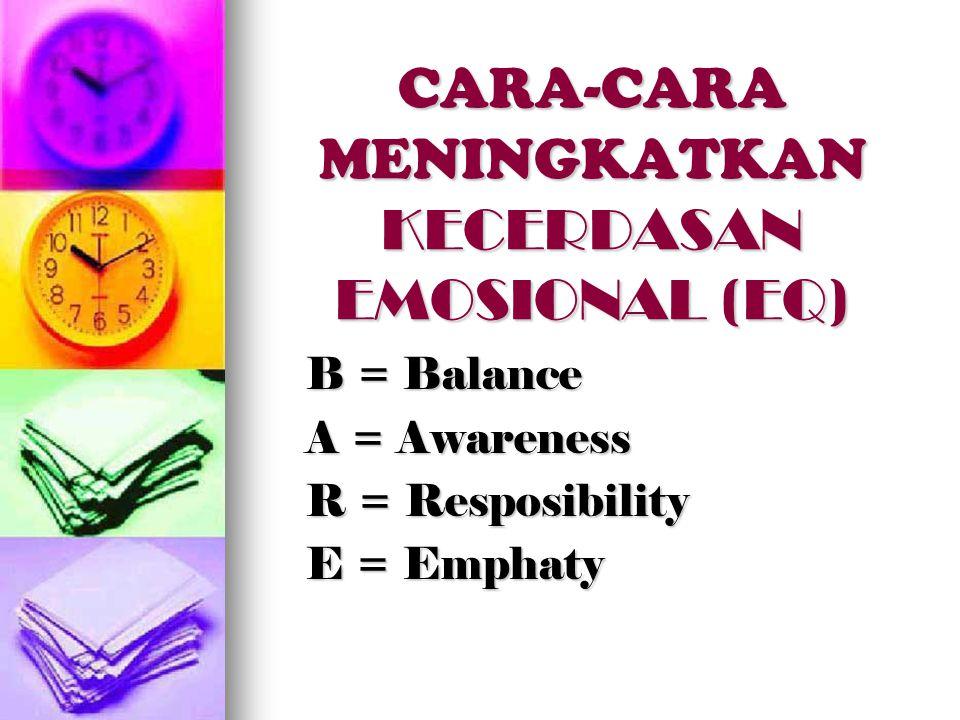 CARA-CARA MENINGKATKAN KECERDASAN EMOSIONAL (EQ)