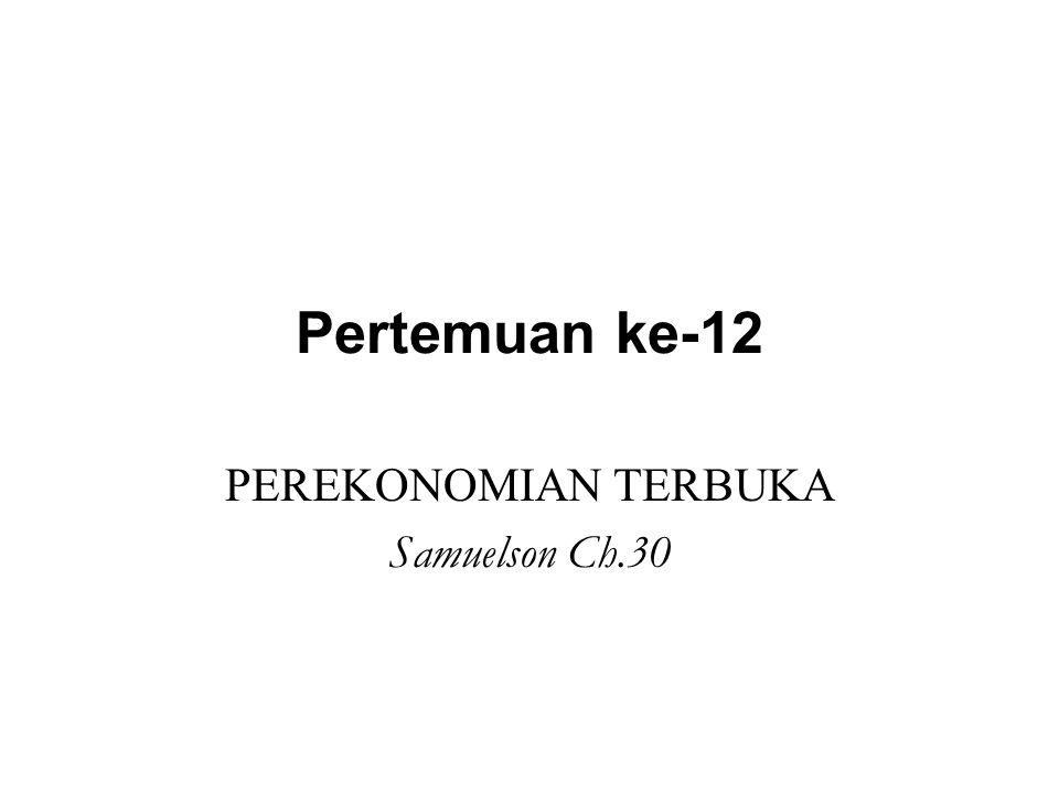 PEREKONOMIAN TERBUKA Samuelson Ch.30