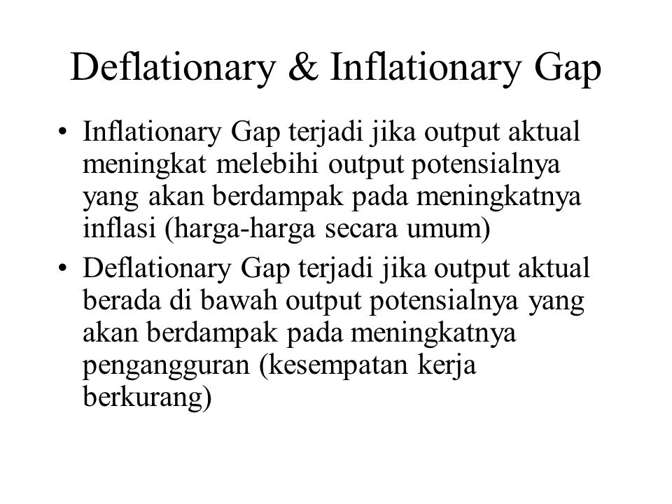 Deflationary & Inflationary Gap