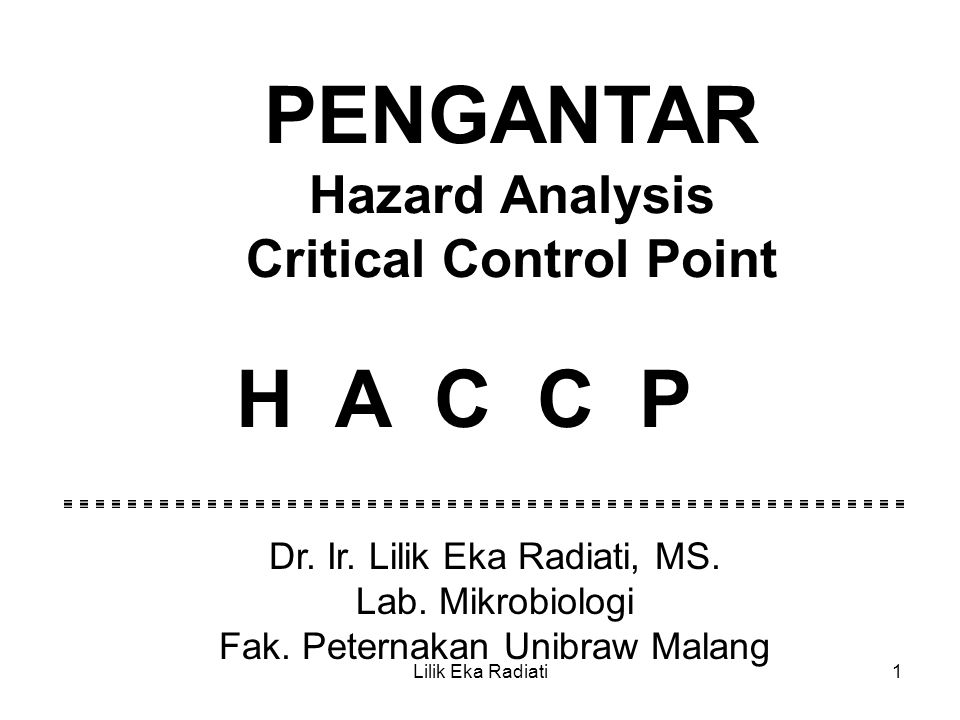 Critical Control Point