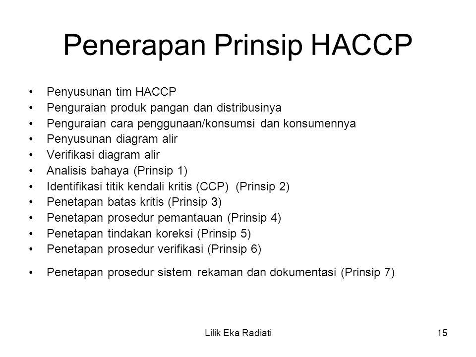Penerapan Prinsip HACCP