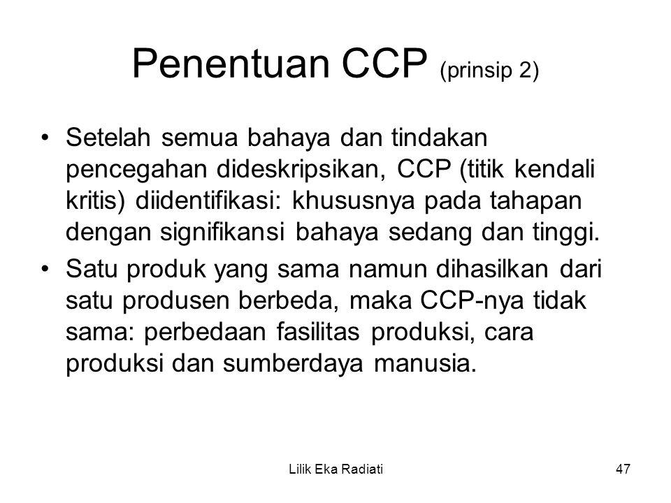 Penentuan CCP (prinsip 2)