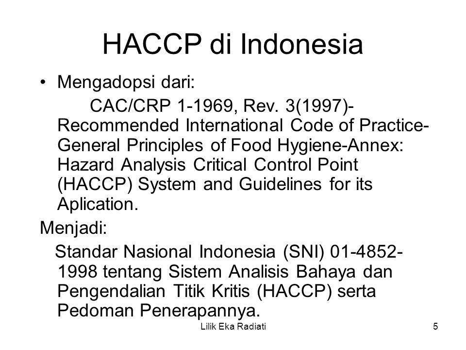 HACCP di Indonesia Mengadopsi dari: