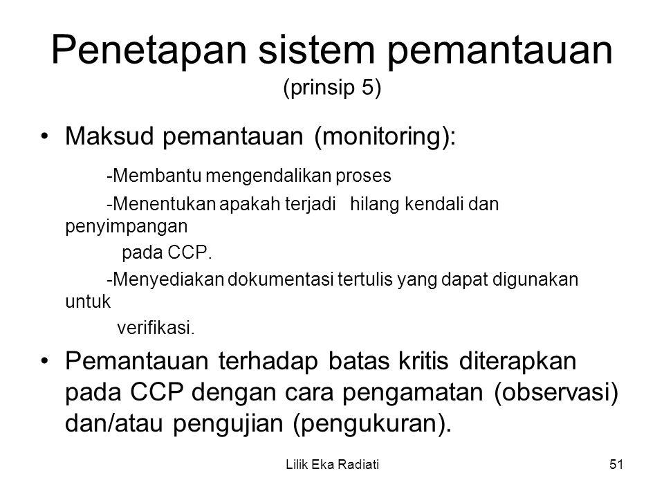 Penetapan sistem pemantauan (prinsip 5)