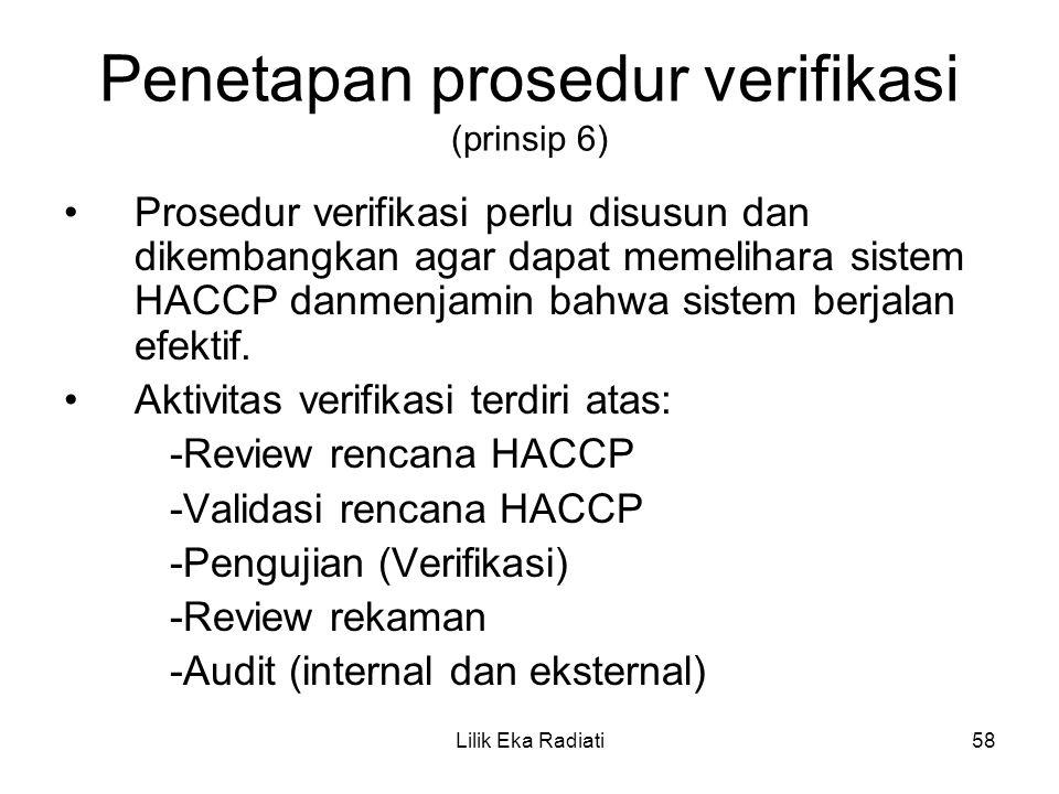 Penetapan prosedur verifikasi (prinsip 6)