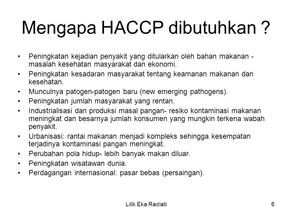 Mengapa HACCP dibutuhkan