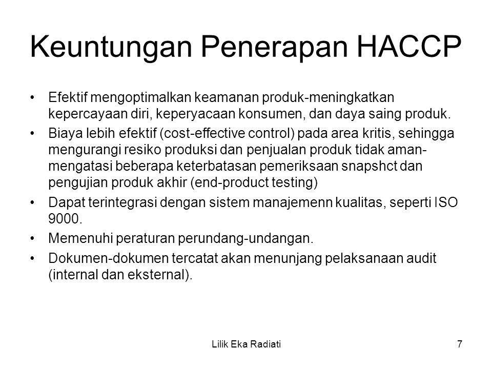 Keuntungan Penerapan HACCP