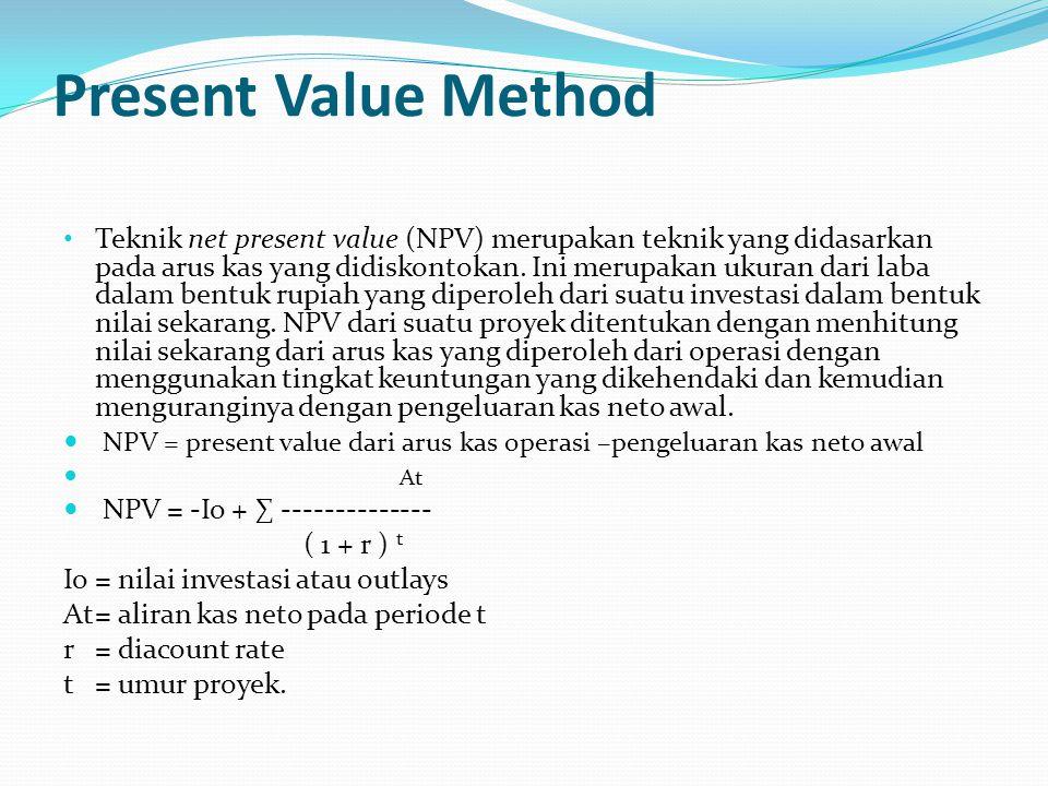 net present value method essay