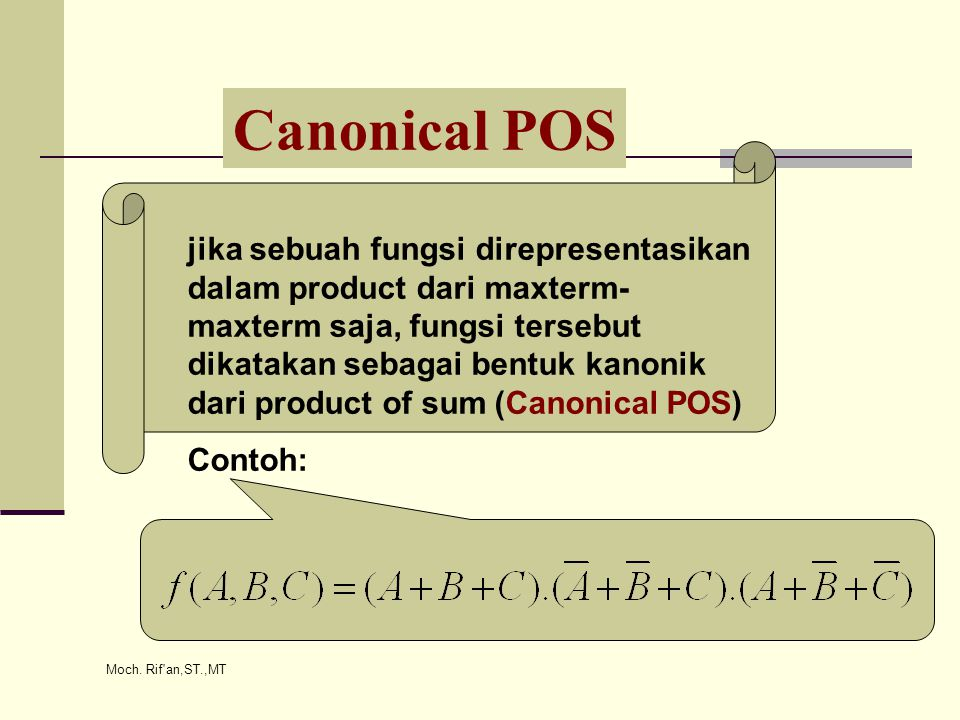 Canonical POS