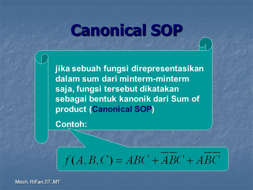 Canonical SOP