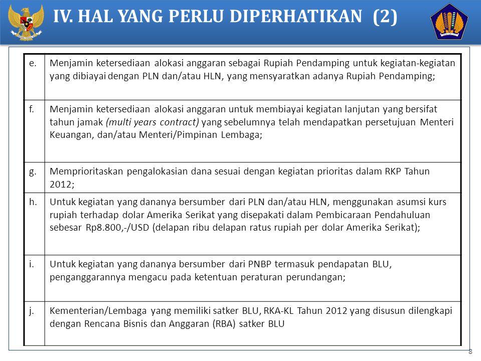 IV. HAL YANG PERLU DIPERHATIKAN (2)