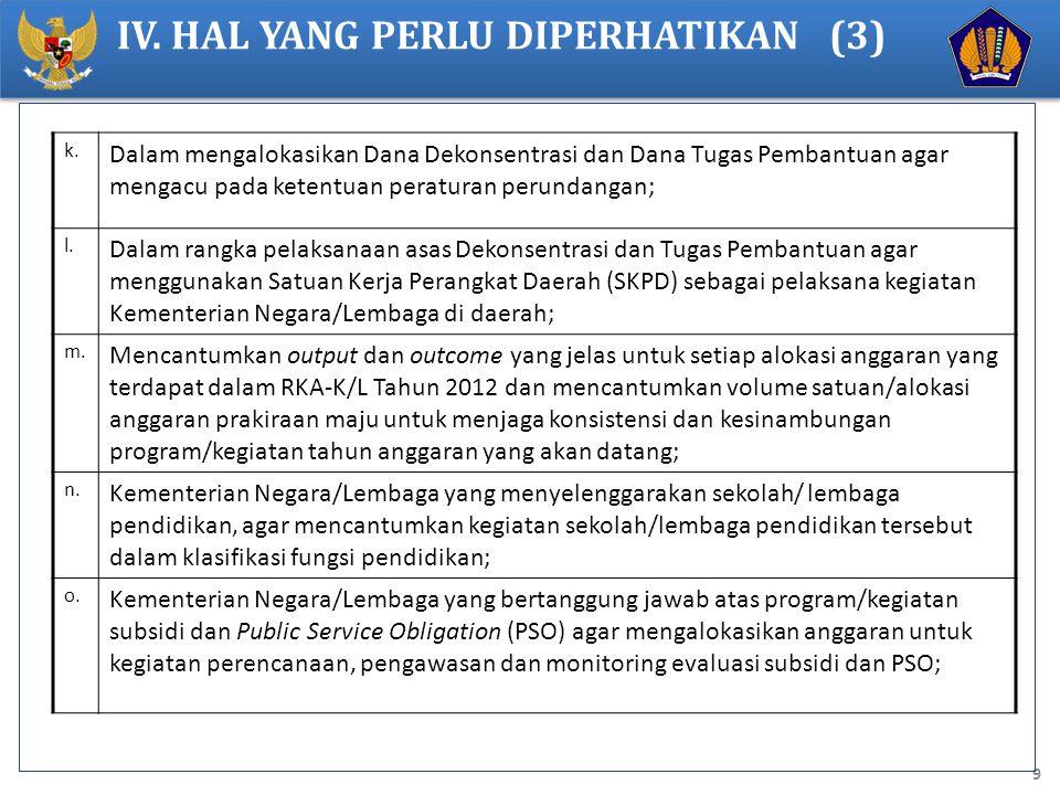 IV. HAL YANG PERLU DIPERHATIKAN (3)