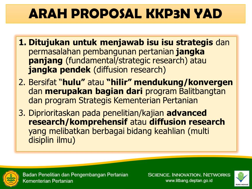 ARAH PROPOSAL KKP3N YAD