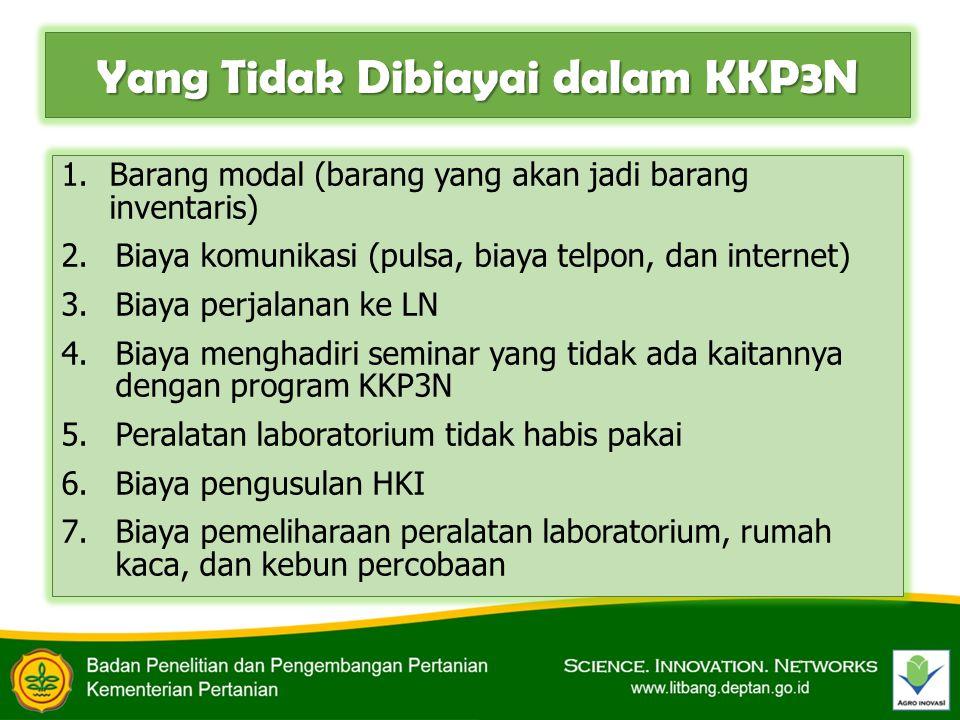 Yang Tidak Dibiayai dalam KKP3N