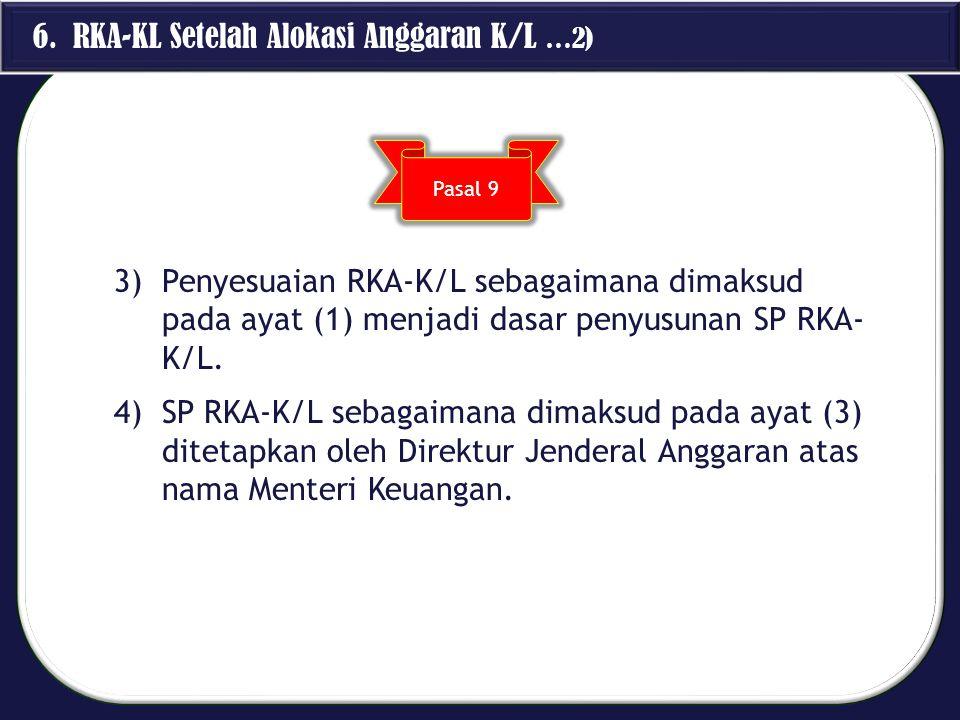 6. RKA-KL Setelah Alokasi Anggaran K/L …2)