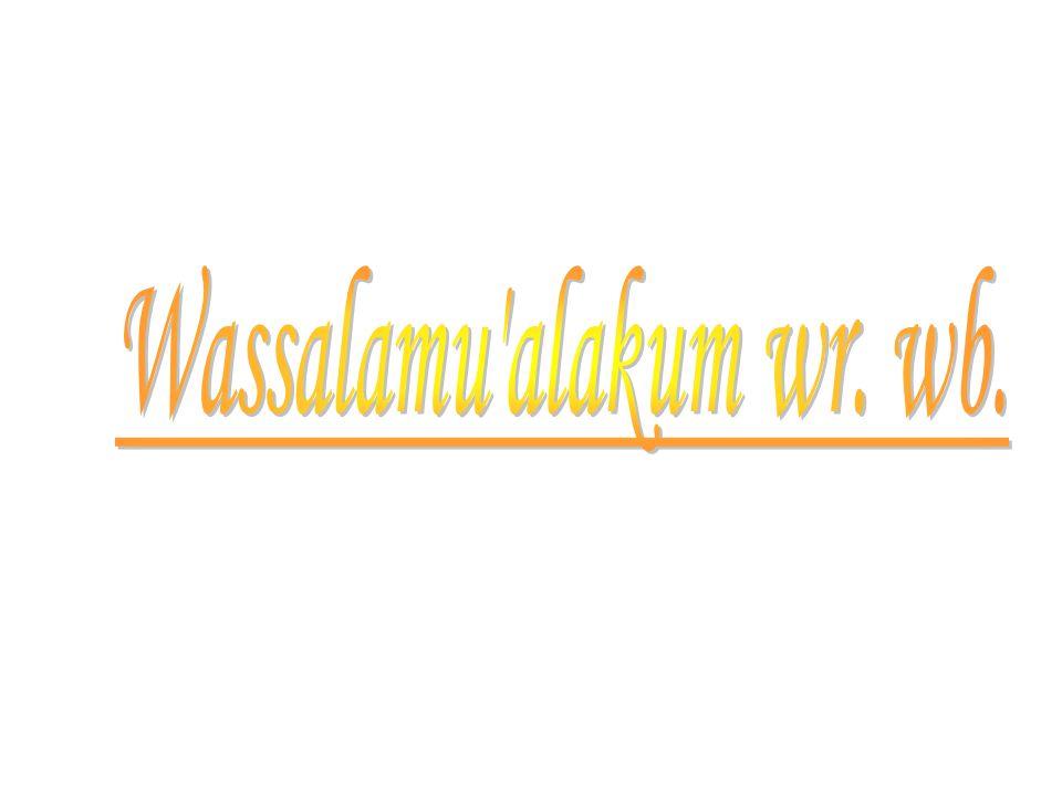Wassalamu alakum wr. wb.
