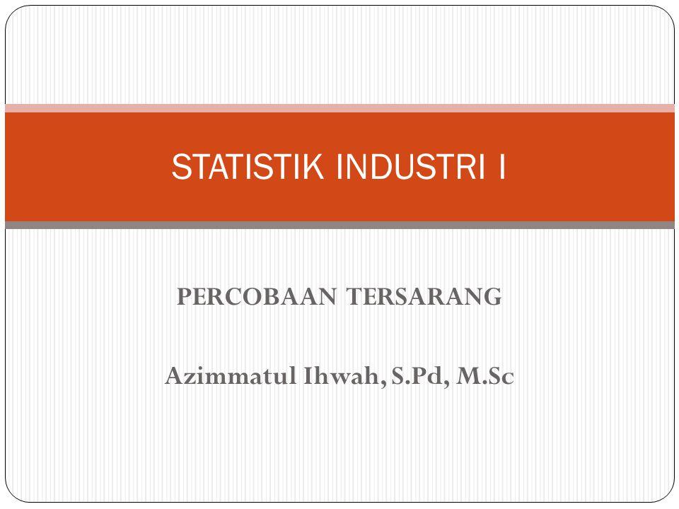 PERCOBAAN TERSARANG Azimmatul Ihwah, S.Pd, M.Sc