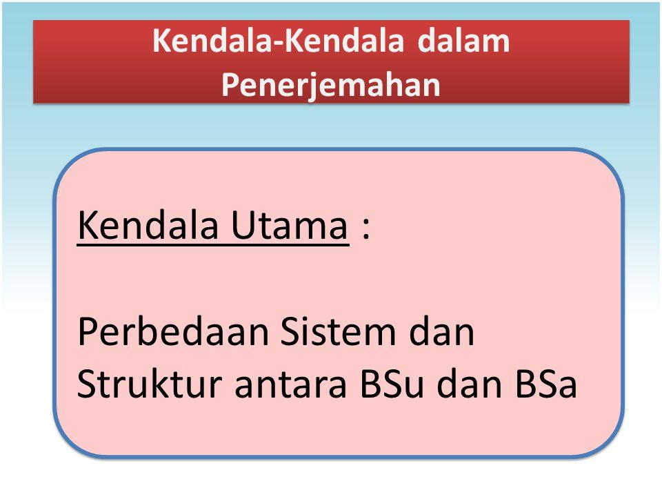 Kendala-Kendala dalam Penerjemahan