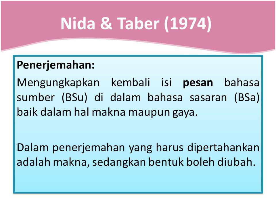 Nida & Taber (1974)