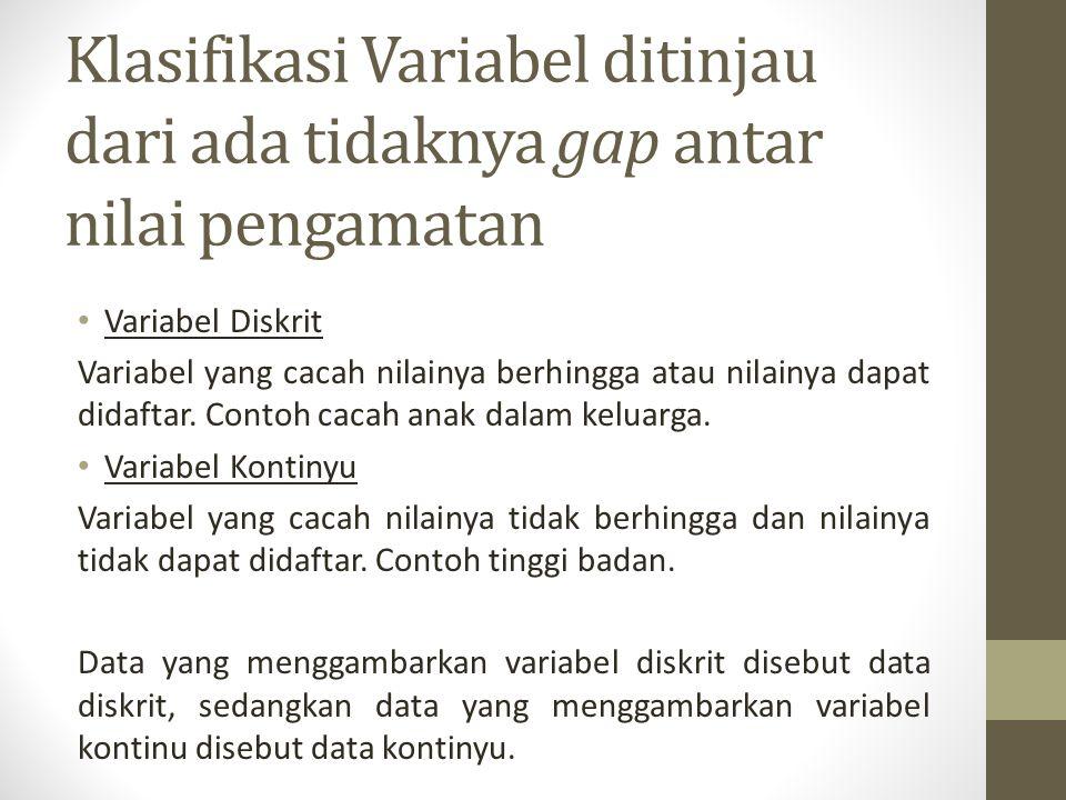 Klasifikasi Variabel ditinjau dari ada tidaknya gap antar nilai pengamatan