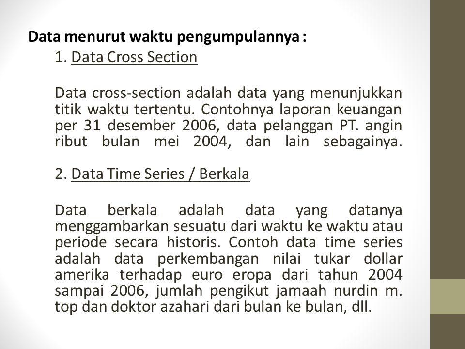Pengelompokan Data (cont.)